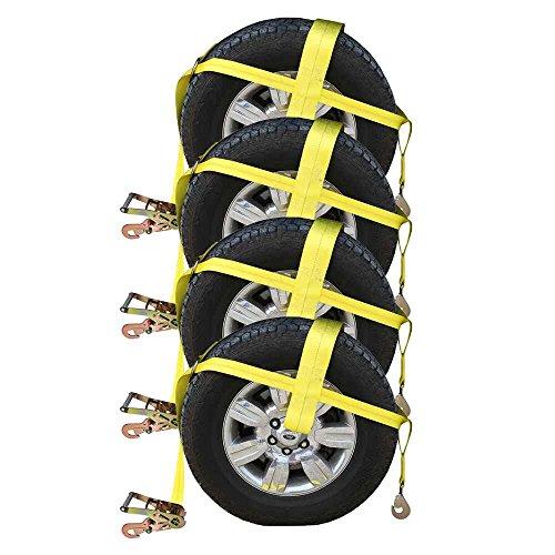 US Cargo Control Yellow Adj Wheel Net w/ 4
