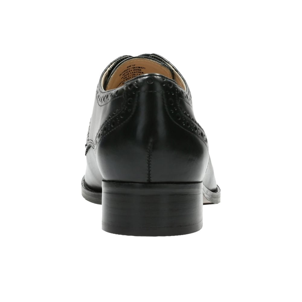 Clarks Habill/é Femme Chaussures Netley Rose en Cuir Noir Taille 37