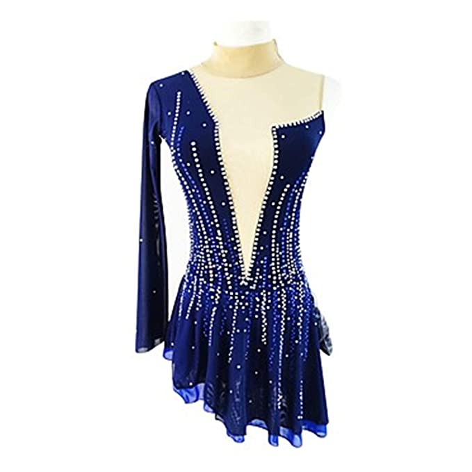 Amazon.com: HUAYANGNIANHAU Figure Skating Dress Girl Woman ...