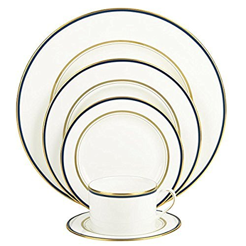 (Kate Spade New York Library Lane Navy Dinnerware 5-Piece Place Setting)