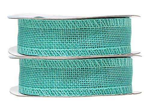 Mandala Crafts Burlap Ribbon, Jute Fabric Strip Spool