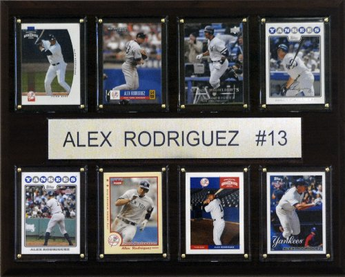- MLB Alex Rodriguez New York Yankees 8 Card Plaque