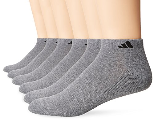 adidas Men's Athletic Low Cut Socks (6 Pack), Heather - Socks Extreme Cut Dry Low