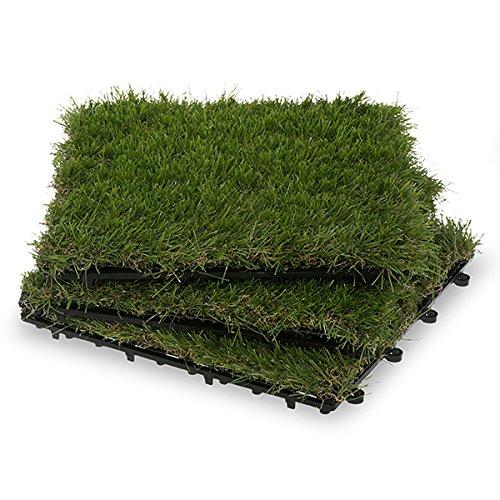 Garden Winds Grass Deck Tiles, 30mm (Garden Deck Tile)
