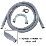 Spares2go Drain Hose Extension For Bauknecht Washing Machine (2.5M, 18Mm / 22Mm)