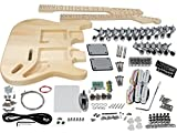 Solo ST Style Double Neck DIY Guitar Kit, Basswood Body, DSTK-1