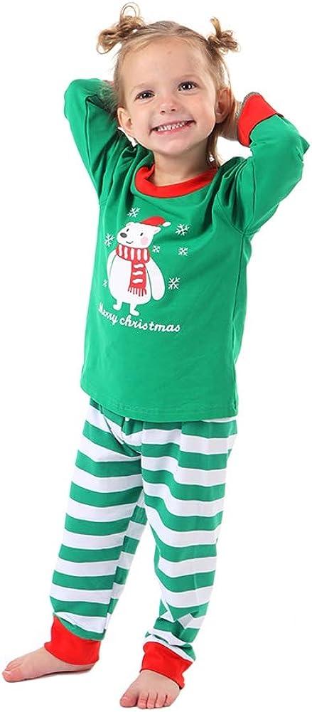 Baywell Adulte Enfants M/ère P/ère Famille Assortie Ensemble de Pyjama de No/ël V/êtement de Nuit B/éb/é Noel Pyjama /À Manches Longues Top und Rouge Plaid Pantalons Femme Hommes Sleepwear Nightwear Homewear