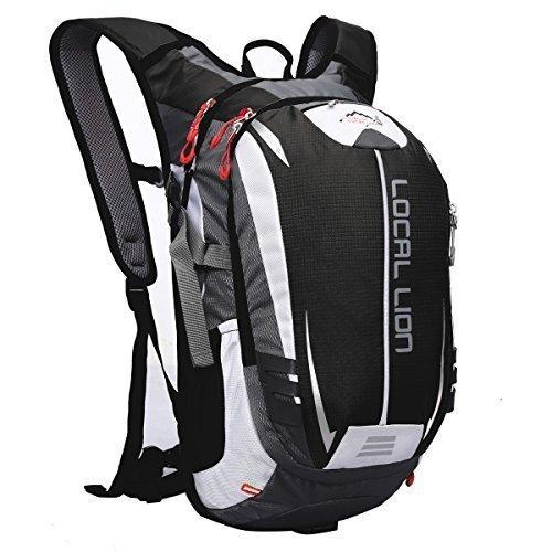 LOCALLION Cycling Backpack Riding Backpack Bike Rucksack Outdoor Sports Daypack for Running Hiking Camping Travelling Ultralight Men Women 18L Black [並行輸入品]   B0793SY1KV