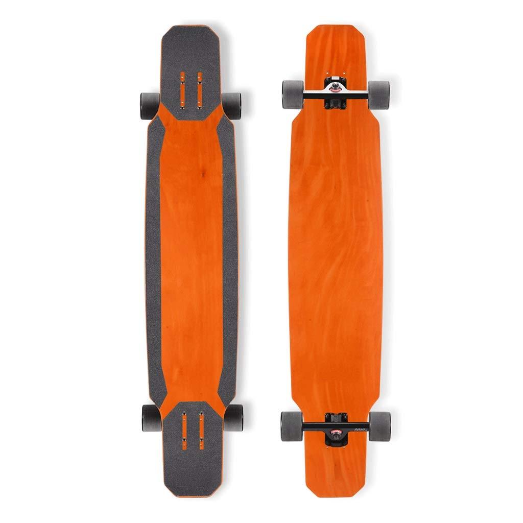 Sljj 大人のプロ6層メープルコンプリートスケートボード、 極端なスポーツやアウトドア用の118cm * 24cmトリックスケートボード (Color : オレンジ) オレンジ