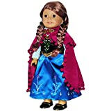 Doll-Clothes-Princess-Anna-Dress-Outfit-WITH-EMBROIDERED-DETAILS-Fits-American-Girl-Doll-My-Life-Doll-Our-Generation-and-other-18-inch-Dolls