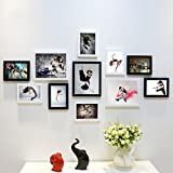 Home@Wall photo frame DIY Photo Frame Sets,Living Room Photo Frame Wall Creative Combination Sofa Background Frames Sets Of 11 ( Color : L , Size : 11frames/13570CM )