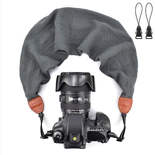 - LIFEMATE Scarf Camera Strap,DSLR Camera Strap Universal Neck Strap,Fabric of Bohemia Floral Scarf Camera Strap (Grey)