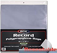 BCW Supplies Resealable 33 RPM Bags Snug (100 Count)