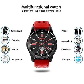 Wearable Dispositivos Inteligente Del Reloj de Bluetooth Fitness Relojes, con monitor de sueño Contador de