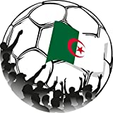 Algeria Flag Soccer Ball Fans Home Decal Vinyl Sticker 12'' X 12''