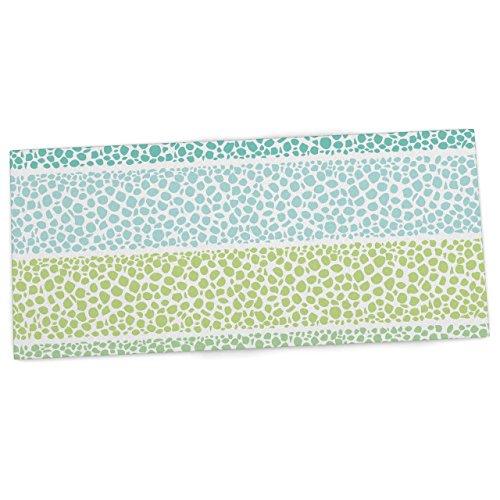 "KESS InHouse Pom Graphic Design ""Zen Pebbles"" Green Teal Office Desk Mat, Blotter, Pad, Mousepad, 13 x 26-Inches"