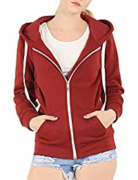 Red Zip Up Hoodie Womens | Fashion Ql