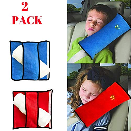 Seatbelt pillow | Car pillow for kids | kids seatbelt pillow Comfort And Soft car seat covers for kids Breathable Fabric Safety adjustable | seat belt covers for kids 90% Cotton seat travel pillow