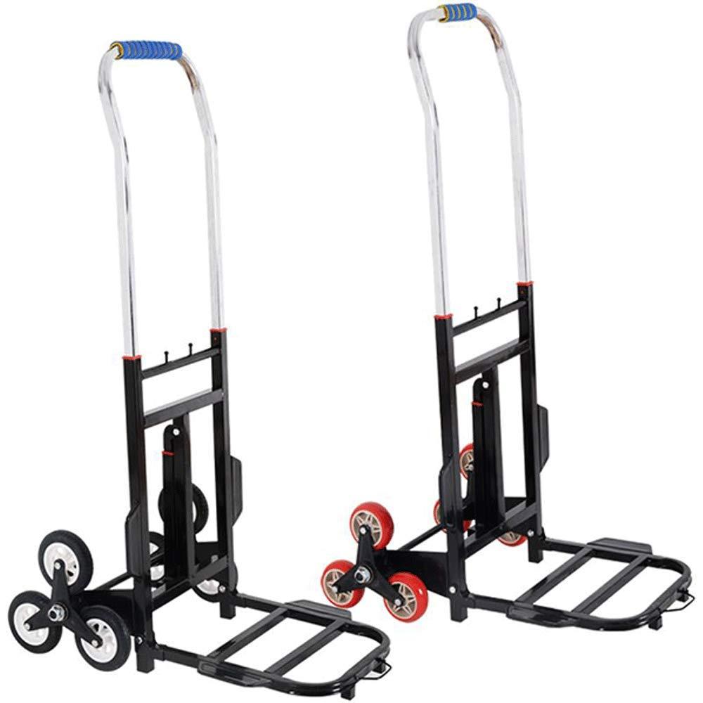 ポータブル大型アルミ合金ロードキングは、階段、折りたたみ式、ポータブル旅行トレーラーポータブルショッピングカートを登ることができます (色 : PU wheel) B07K9QGZBT PU wheel