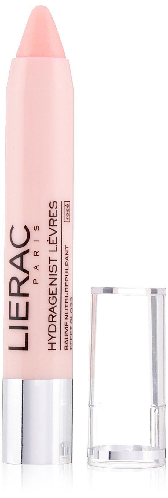 LIERAC Hydragenist Lip Balm with Pink Gloss Effect, Rose Vanilla, 0.1 oz.