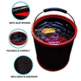 Gotian 12L Portable Folding Collapsible Bucket Car Outdoor Boating Camping Fishing Wash