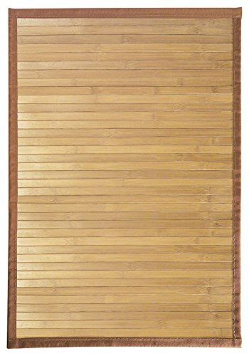"Decorative Bath Sinks - InterDesign Bamboo Floor Mat – Ideal Mat for Kitchens, Bathrooms or Offices - 17"" x 24"", Natural"