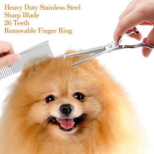 Gimars-Heavy-Duty-Titanium-Coated-Stainless-steel-Dog-Grooming-Scissors-Tools-Thinning-Straight-Curved-Shears-with-Combs-Perfect-Trimmer-Kit-for-Long-Short-Hair-Fur-for-Cat-and-More-Pets