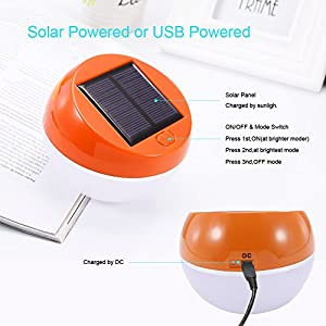 SOLAR STATION Solar Lights,Solar Powered Table Lights with USB Charging Port Solar Bedside Lamp for Home,Reading Room,Baby Room