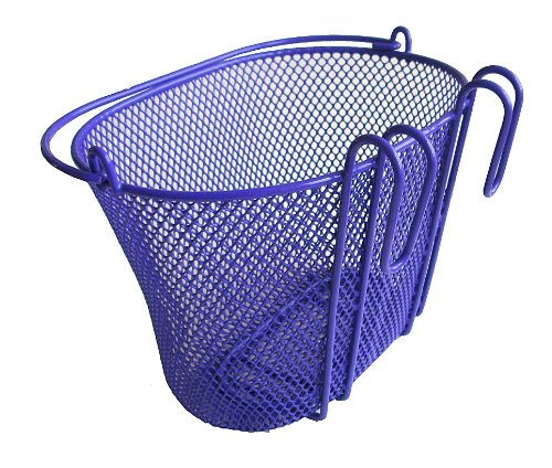 Biria Basket with hooks PURPLE, Front, Removable, Children wire mesh SMALL kids Bicycle basket, NEW, PURPLE by