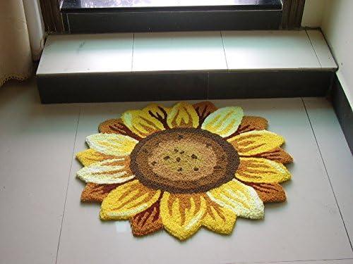 YOUSA Sunflower Rugs for Bedroom Living Room Carpet 51 51