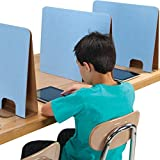 Really Good Stuff Student Privacy Dividers (20''W x 3''D x 16''H, Blue, 24)
