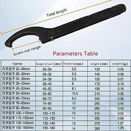 llave de punto universal para la fijaci/ón o el desmontaje de tuercas redondas y tapas de contadores de agua en m/áquinas herramientas. llaves de zorro 1 llave de gancho ajustable de 22 a 160 mm