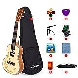 Kmise Ukulele 23 Inch Ukelele Concert Hawaii Guitar With Bag for Starter Beginner Kit Solid Spruce Mahogany