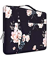 MOSISO Laptop Briefcase Handbag Compatible with 13-13.3 inch MacBook Air, MacBook Pro, Notebook Computer, Surface Book, Surface Laptop, Polyester Camellia Multifunctional Carrying Sleeve