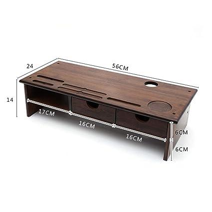 Soporte de Monitor/Bambú Soporte para Ordenador Organizador de ...