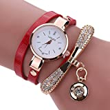 Women Watches,Fashion Ladies Faux Leather