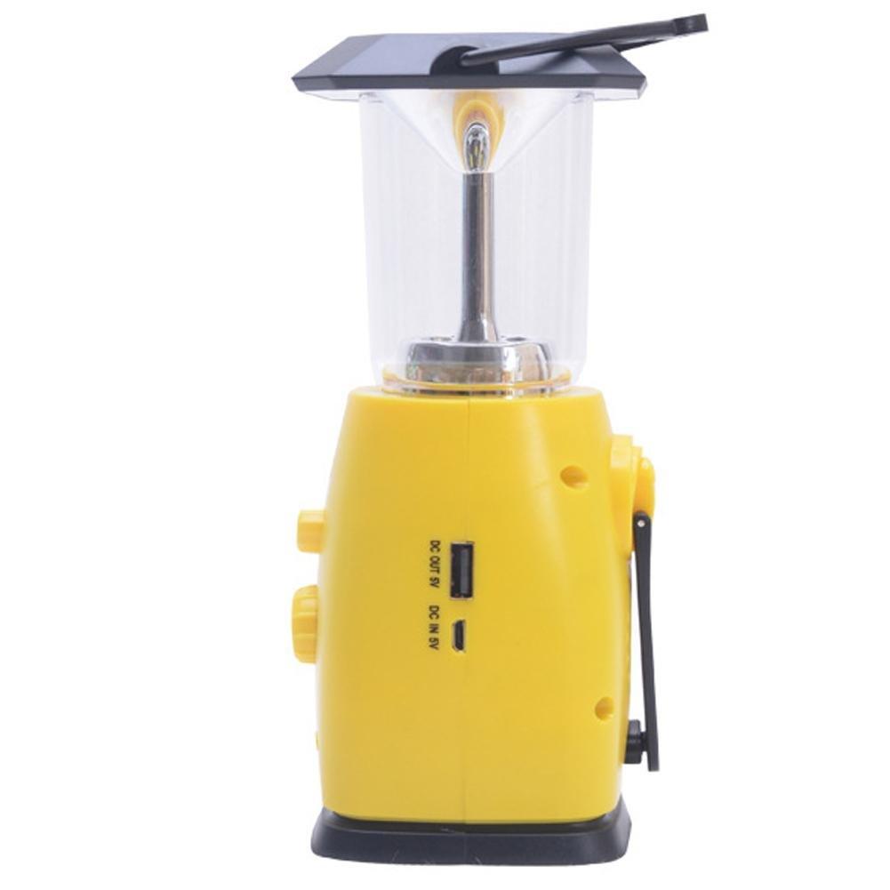 Seatechlogy Solar LED Bulb Emergency Lamps Camping Light, Multifunction Hand Crank Power, Solar Emergency Light, Portable Light, AM/FM Radio, Can Listen Music, News by Seatechlogy (Image #3)