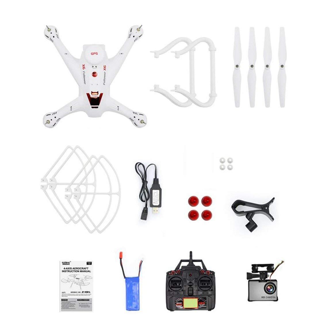 Delicacydex X183S RC Drohne mit 720P 5G Kamera Headless Modus Höhe Halten Sie eine Taste Return Mini Fernbedienung GPS Quadrocopter - Weiß