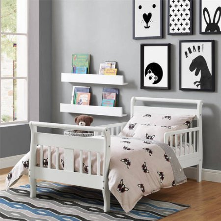 Furniture Sleigh Toddler Bed (Baby Relax Sleigh Toddler Bed White)