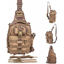BLISSWILL Outdoor Tackle Bag Multifunctional Water-Resistant Fishing Bag Single Shoulder Bag Crossbody Fishing Bag Fishing Gear Storage Bag Backpack for Fishing Hunting Hiking Climbing Cycling