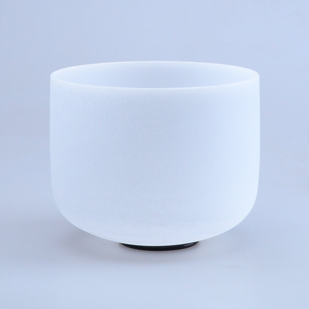 440HZ 8'' G Throat Chakra Quartz Crystal Singing Bowl by Donghai Quartz