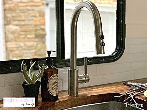 Kitchen Pfister LG529SAS Stellen 1-Handle Pull Down Kitchen Faucet, Stainless Steel modern sink faucets