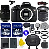 Canon EOS Rebel T6i 24.2 MP Digital SLR Camera Video Bundle Kit with Sigma 17-50mm f/2.8 EX DC OS HSM FLD Lens + Sigma 70-300mm f/4-5.6 DG Macro Telephoto Zoom Lens + 2pc Commander 32GB Memory Cards
