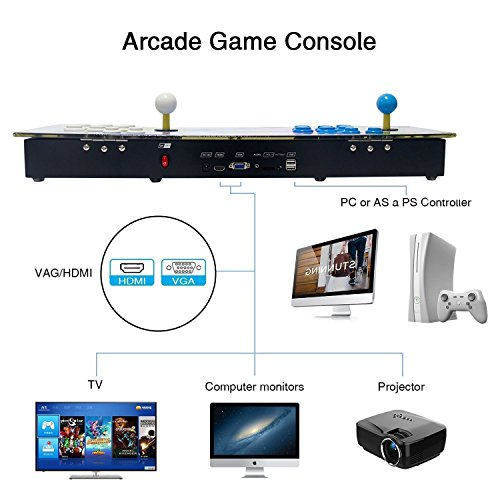 Pandora's Key 7 3D Arcade Game Console Machine | Includes 2177 HD Games | Full HD (1920x1080) Video | 2 Player Game Controls | Add More Games | Support 4 Players | HDMI/VGA/USB/AUX Audio Output by HAAMIIQII (Image #3)
