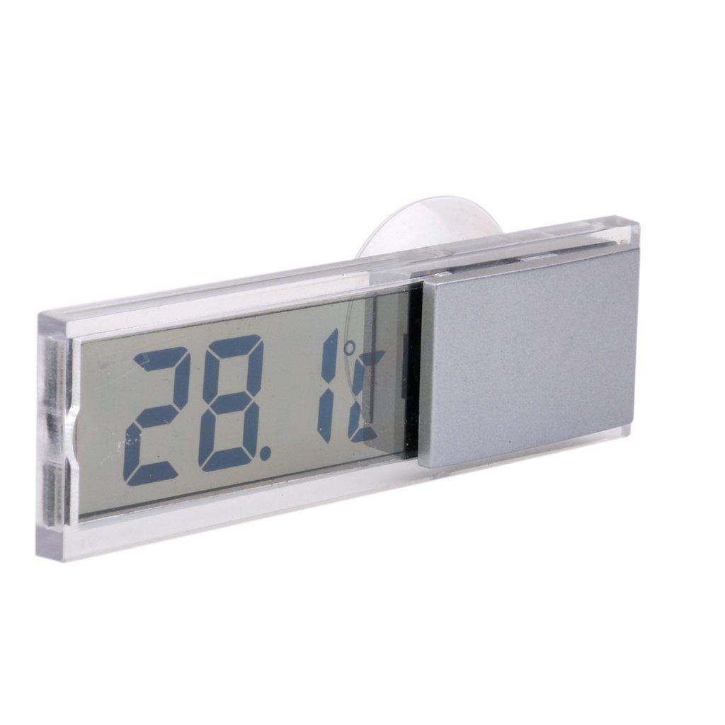 R interior Sensor de temperatura digital LCD camion auto Ventosa Termometro exterior SODIAL