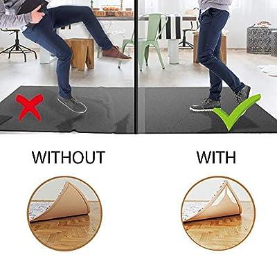 Anti Slip Rug Grippers, 16 Pack Large Anti Curling Area Rugs Gripper Pad Carpet Gripper Tape for Hardwood Floors, Kitchen, Bathroom and Outdoors Waterproof Reusable Rug Corner Gripper