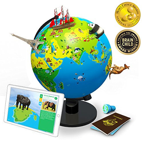 Shifu Orboot (App Based): The Educational, Augmented Reality Based Globe | STEM Toy for Boys & Girls Age 4 to 10 Years | Learning Toy Gift for Kids (No Borders or Names on Globe) by Shifu