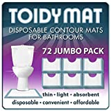 ToidyMat - 72 Disposable Contour Mats for Bathrooms - Incontinence Pads (Jumbo Pack)