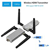 MEASY Air Prime Wireless HDMI Extender 656 Ft / 200M (HDMI Transmitter + Receiver) Supporting HD 1080P 3D Video & Digital Audio to HDTV/Projector
