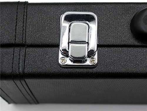 Funnmart Professional Portable Bag for Instruments Flute gig Leather Box for Western Concert Flute Cotton Padded Waterproof Durable case